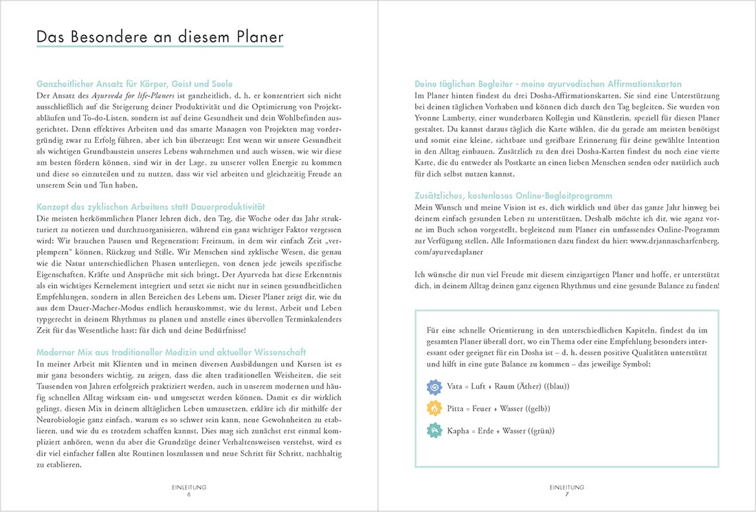 Ayuerveda Planer Buch