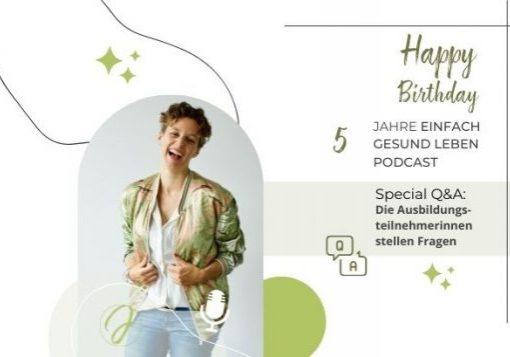 Einfach gesund Leben Podcast Jubiläum